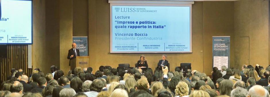 Il Presidente di Confindustria Vincenzo Boccia ospite al Graduation Day 2017
